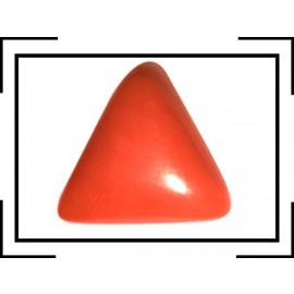 Natural Red Coral Triangular 10+ 6.15ct