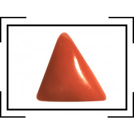 Natural Red Coral Triangular 3+ 2.1ct